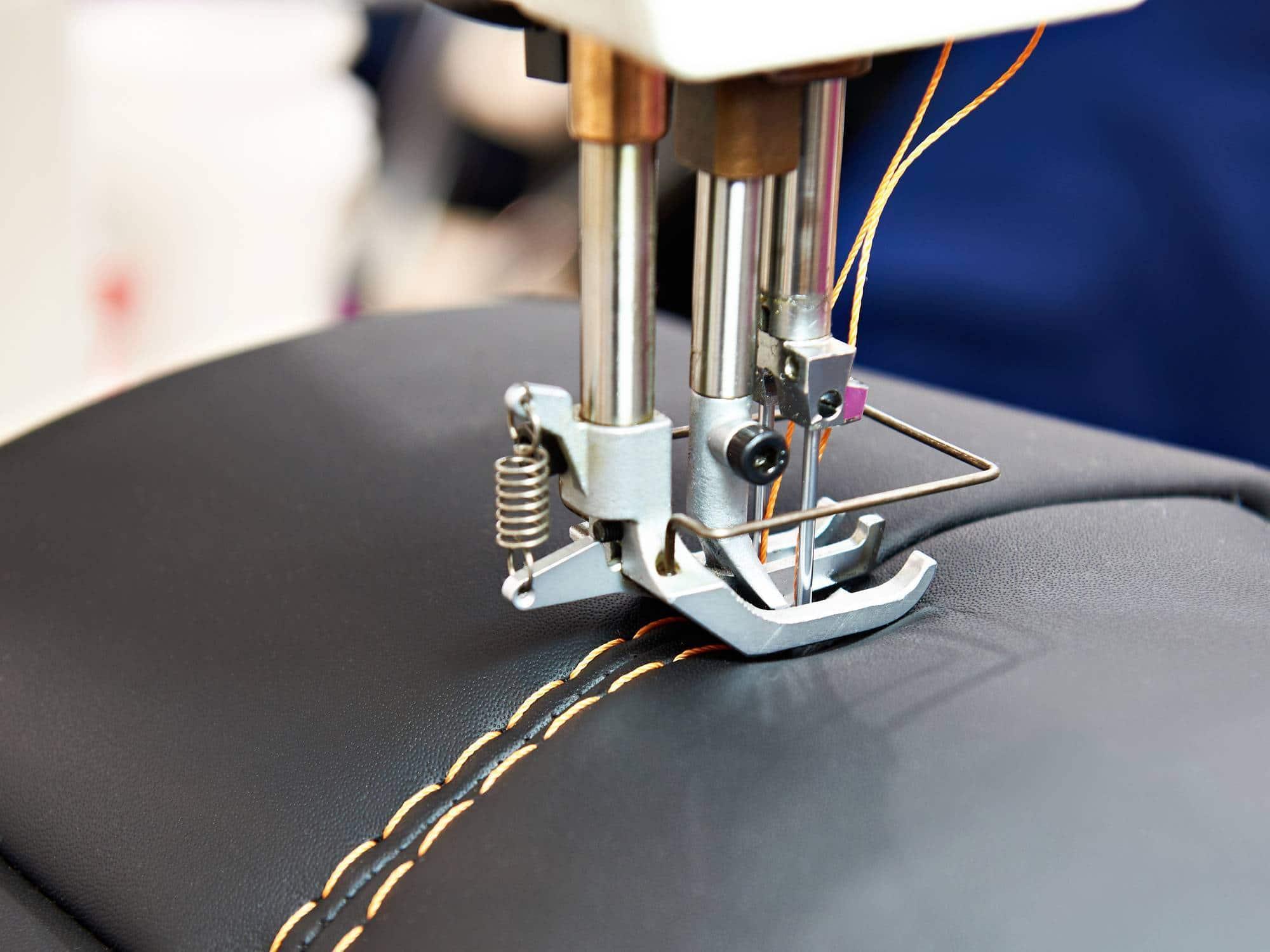 machine à coudre industrielle cuir